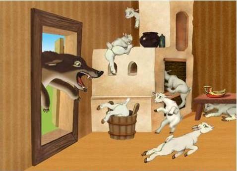 Вовк та козенята
